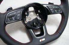 画像7: Audi 純正 S4(8W/B9/F4) / S5(F5) フラットボトムステアリング (7)