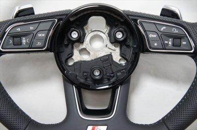 画像1: Audi 純正 A4(8W/B9/F4) / A5(F5) S line フラットボトム ステアリングホイール