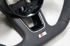画像2: Audi 純正 New A4(8W)/A5(F5) S line フラットボトム ステアリングホイール (2)