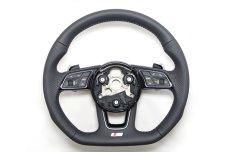 画像8: Audi 純正 A4(8W/B9/F4) / A5(F5) S line フラットボトム ステアリングホイール (8)