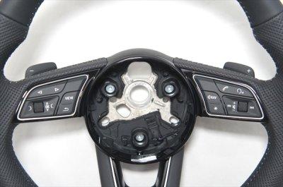 画像2: Audi 純正 New A4(8W)/A5(F5) S line フラットボトム ステアリングホイール
