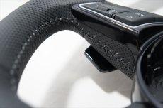 画像8: Audi 純正 New RS5 Coupe (F5) フラットボトム ステアリング (パンチングレザー) (8)