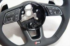 画像6: Audi 純正 New RS5 Coupe (F5) フラットボトム ステアリング (パンチングレザー) (6)