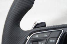 画像4: Audi 純正 New RS5 Coupe (F5) フラットボトム ステアリング (パンチングレザー) (4)