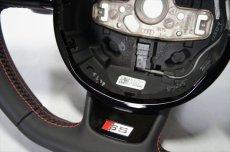 画像3: Audi 純正 S5(8T) / SQ5(8R) フラットボトム ステアリング ホイール  (3)