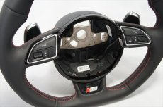 画像4: Audi 純正 S5(8T) / SQ5(8R) フラットボトム ステアリング ホイール  (4)