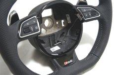 画像2: Audi 純正 RS6 (4G/C7) フラットボトム ステアリング ホイール (2)