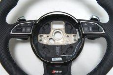 画像3: Audi 純正 RS6 (4G/C7) フラットボトム ステアリング ホイール (3)