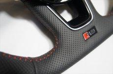 画像3: Audi 純正 New RS5 Coupe (F5) フラットボトム ステアリング (パンチングレザー) (3)