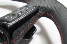 画像7: Audi 純正 New RS5 Coupe (F5) フラットボトム ステアリング (パンチングレザー) (7)