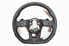 画像2: Audi 純正  RS5 (F5) / RS4 Avant (8W/B9/F4) フラットボトム ステアリング (パンチングレザー) (2)