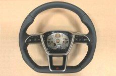 画像3: Audi 純正 A6(4A/F2/C8) / A7(4K/F2/C8) S-line S6 S7 フラットボトムステアリングホイール  (3)