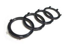 画像2: Audi 純正 グロス ブラック FourRings フロント グリル エンブレム [1]   A1(GB),A3/S3/RS3(8V),A4/S4/RS4(8K/B8/B8.5/8W/B9/F4),A5/S5/RS5(8T,F5)A6(4A/F2/C8),A7(4K/F2/C8)  (2)