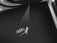 画像1:  Audi 純正 LED ドアエントリーライト セット(カーテシランプ)FourRingss + Gecko (1)