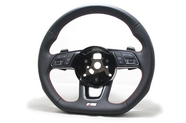 画像1: Audi 純正 S4(8W/B9/F4) / S5(F5) フラットボトムステアリング (1)
