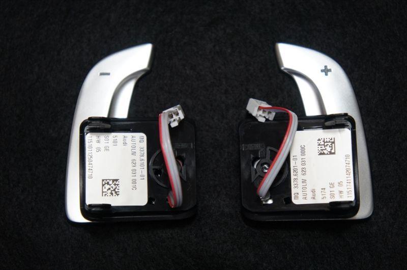 画像1: Audi 純正 R8 アルミ パドルシフト (1)