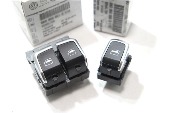 画像1: Audi 純正 A1(8X)/A5(8T)/S5(8T) パワーウィンドウスイッチ セット (1)