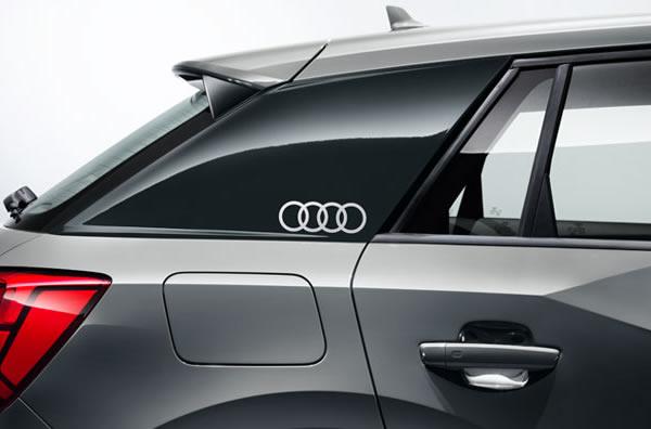 画像1: Audi 純正 フォーリングス FourRings ステッカーセット (1)