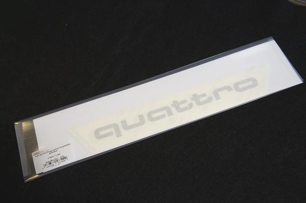 画像1: Audi 純正 クワトロ quattro ステッカー (S) セット (1)