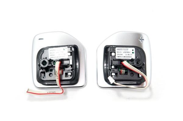 画像1: Audi 純正 アルミ調 ステアリング パドルシフト スイッチ (1)