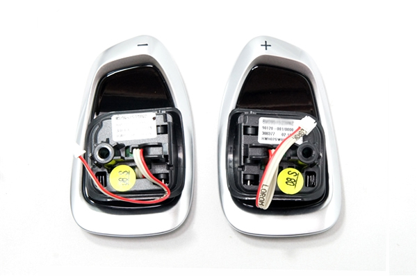 画像1: Audi 純正 RSモデル用 ステアリング パドルシフト スイッチ (1) (1)
