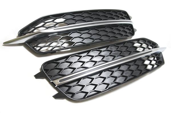 画像1: Audi 純正 S6(4G/C7) エアガイドグリル セット (1)