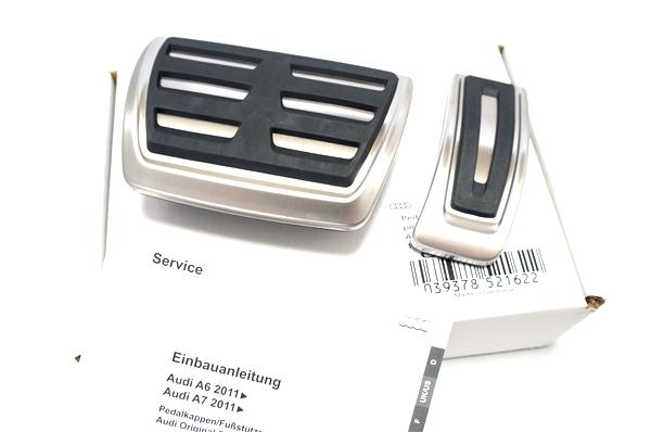 画像1: Audi 純正 S6/S7 A6/A7(4G/C7) アクセル・ブレーキ ペダルカバーセット (1)
