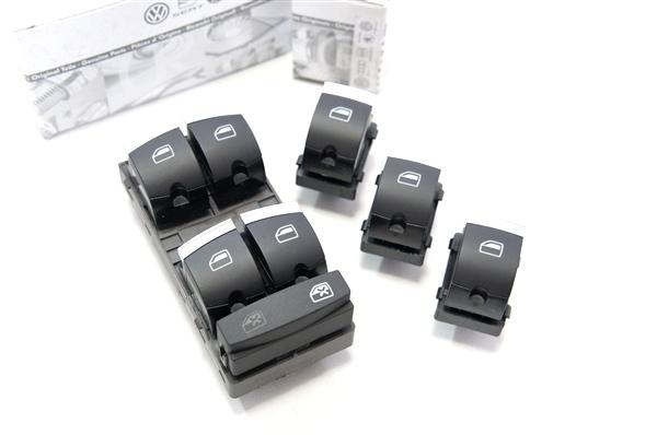 画像1: Audi 純正 A3SB(8P)/A6(C6/4F)/Q7(4L) パワーウィンドウスイッチ セット (1)