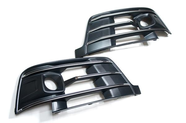 画像1: Audi 純正 S Q7(4M) エアガイドグリルセット (1)