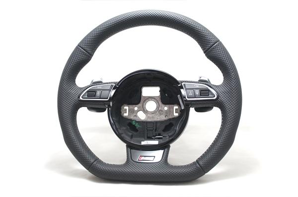 画像1: Audi 純正 RS5 (8T) フラットボトムステアリング (1)