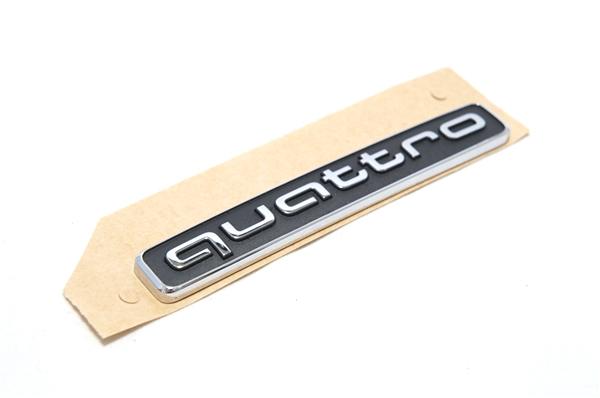 画像1: Audi 純正 quattro エンブレム ブラック (L) (1)