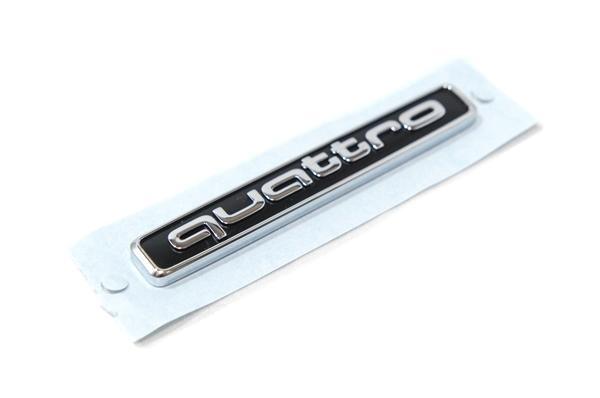 画像1: Audi 純正 quattro エンブレム ブラック (S) (1)