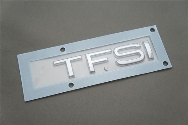 画像1: Audi 純正  TFSI リア エンブレム (S) (1)