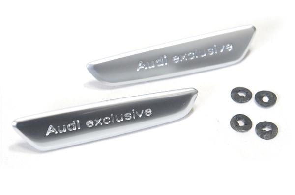 画像1: Audi 純正 Audi exclusive エンブレム(バッジ) 左右セット (1)