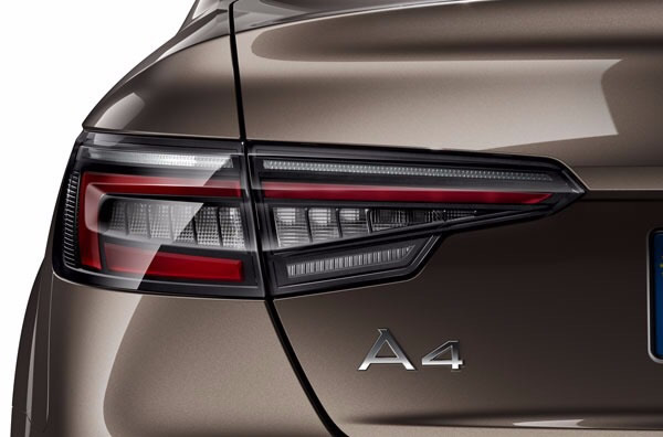 画像1: Audi 純正 A4/S4(8W/B9) クリア(ダークテールライトレンズ)LED テールランプ セット(セダン用) (1)