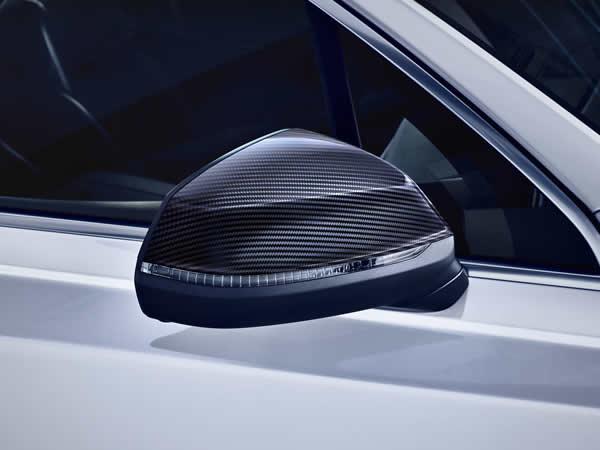 画像1: Audi 純正 Q7(4M) カーボン ドアミラーハウジング (1)