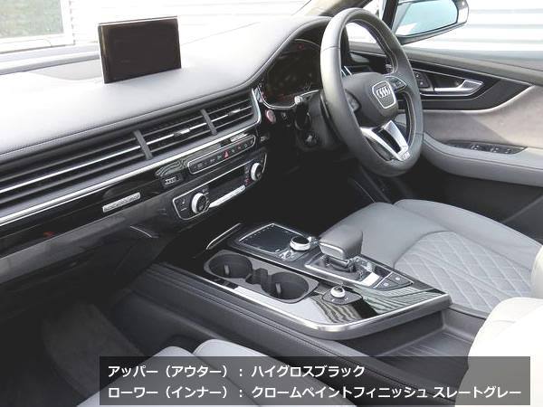 画像1: Audi 純正 Q7(4M) アッパー(アウター)デコラティブパネル シルバーグレー /ブラッシュドアルミ/グロスブラック (1)