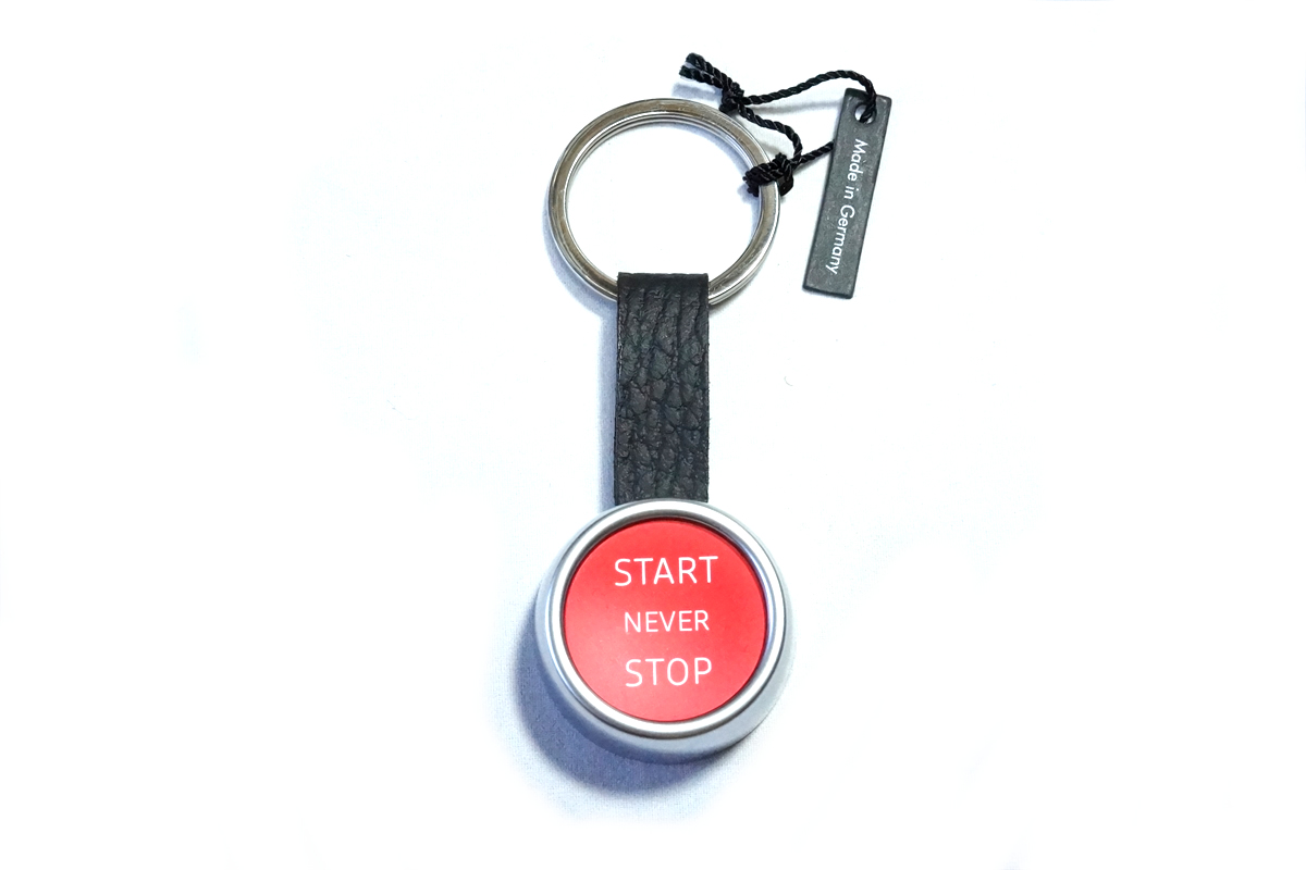 画像1: Audi 純正 キーリング (START NEVER STOP) (1)
