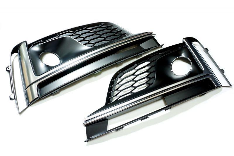 画像1: 【SALE】Audi 純正 S5/A5 (F5) エアガイドグリル  セット (1)