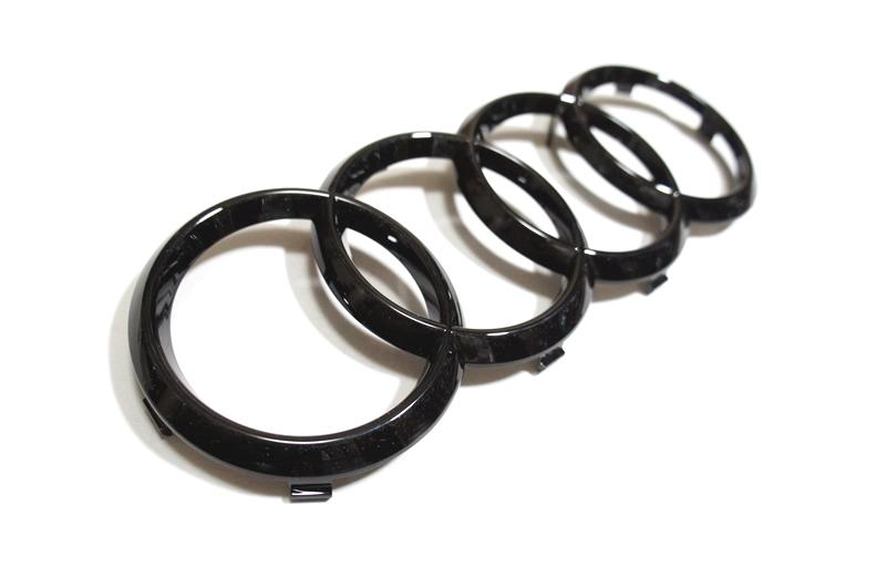 画像1: Audi 純正 グロス ブラック FourRings フロント グリル エンブレム [1]   A1(GB),A3/S3/RS3(8V),A4/S4/RS4(8K/B8/B8.5/8W/B9/F4),A5/S5/RS5(8T,F5)A6(4A/F2/C8),A7(4K/F2/C8)  (1)