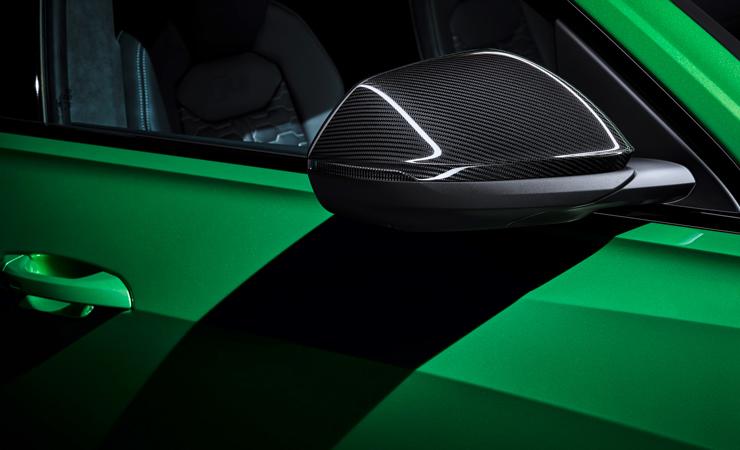 画像1: Audi 純正 Q8(4M/4M8/F1) カーボン ドアミラーハウジング (1)