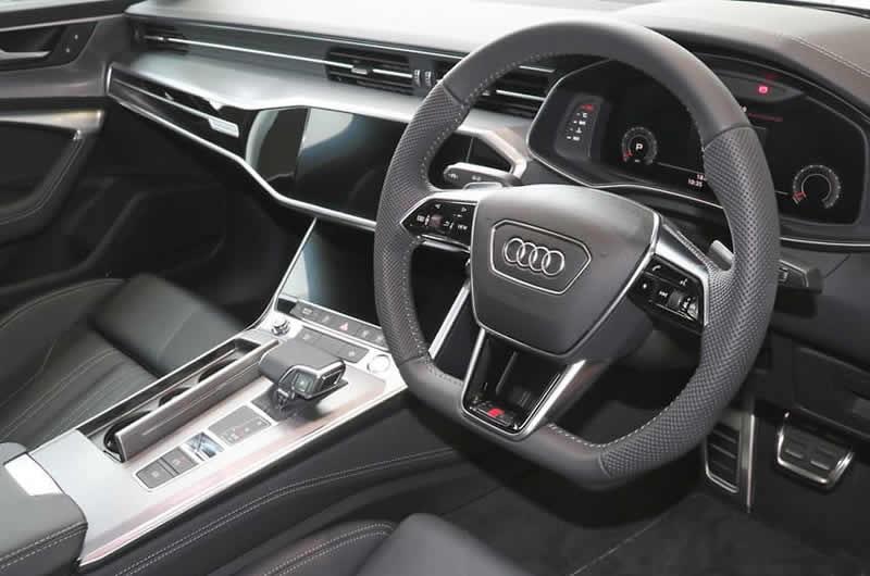 画像1: Audi 純正 A6(4A/F2/C8) / A7(4K/F2/C8) S-line S6 S7 フラットボトムステアリングホイール  (1)